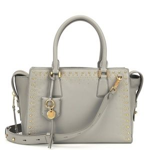 Cole Haan Marli Leather Studded Satchel Bag